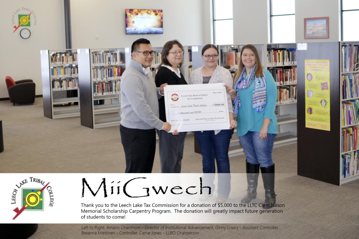Donation - Clem Nason memorial scholarship