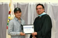 LLTC student scholarship at graduation ceremony