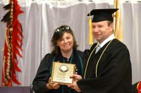 LLTC student award at graduation ceremony