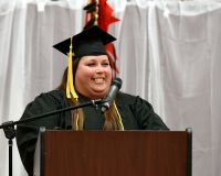 LLTC student speaking at graduation ceremony