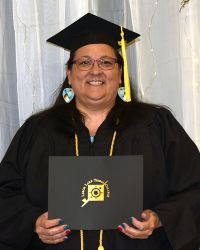LLTC student with diploma
