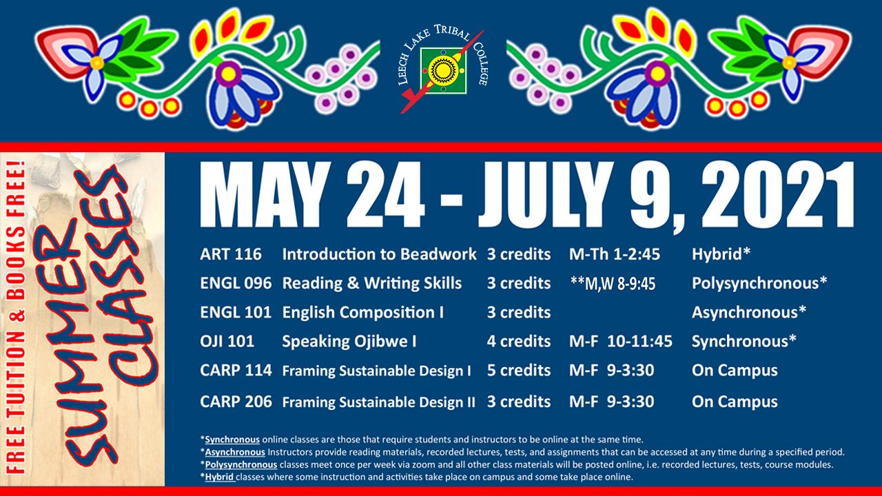 Summer 2021 Class Schedule