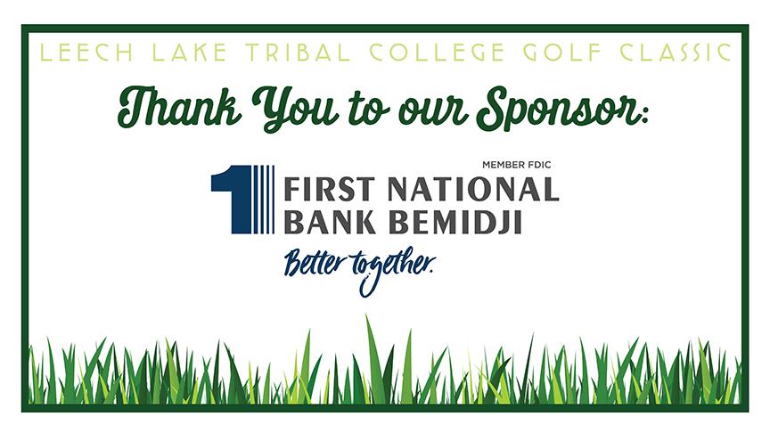 Special Recognition Sponsors 1st National Bank Bemidji